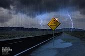 기후변화 (환경오염), 자연재해 (자연현상), 날씨, 환경이슈, 온난화, 도로, 길, 스콜, 번개