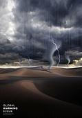 기후변화 (환경오염), 자연재해 (자연현상), 날씨, 환경이슈, 온난화, 토네이도, 번개, 스콜, 사막 (자연의토지상태)