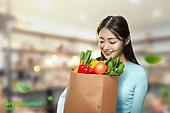 그린슈머, 쇼핑 (상업활동), 지속가능한생활, 소비, 제로웨이스트, 용기내 챌린지, 장바구니, 과일, 채소 (음식)