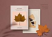 가을, 책, 시집, 감성, 단순 (컨셉), 책표지, 낙엽, 잎