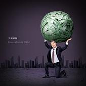 가계부채, 빚, 금융, 빚투, 파산, 불경기, 한국인, 절망, 비즈니스맨, 남성 (성별), 중년 (성인)