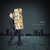 가계부채, 빚, 금융, 빚투, 파산, 불경기, 한국인, 절망, 남성 (성별), 중년 (성인), 지폐, 위험 (컨셉)