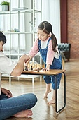 어린이 (나이), 체스, 가족, 딸, 아빠, 시합