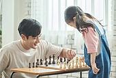 어린이 (나이), 체스, 가족, 딸, 아빠, 시합, 미소