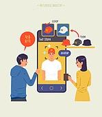 사람, 메타버스, 증강현실, 스마트폰, 시착, 시착 (움직이는활동), 쇼핑 (상업활동)