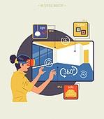사람, 메타버스, 증강현실, 부동산, 모바일앱 (인터넷), 집 (주거건물)