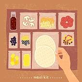 밀키트, 음식, 간편식, 간편식 (음식), 탑앵글 (카메라앵글), 토르티야 (빵)