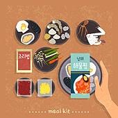 밀키트, 음식, 간편식, 간편식 (음식), 탑앵글 (카메라앵글), 해물찜