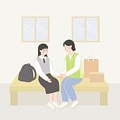 일러스트, 지역봉사활동 (사회복지), 사회복지, 이웃, 도움 (컨셉)