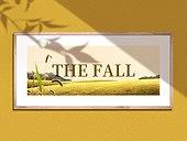 인테리어, 액자 (예술도구), 그림자, 가을, 계절, 낙엽, 감성, 빛 (자연현상)