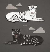 페이퍼아트, 종이, 호랑이 (고양잇과큰동물), 2022년, 호랑이띠해 (십이지신), 흑호, 흑호 (호랑이), 흰호랑이 (호랑이)