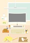 책상, 사무실, 사람, 컴퓨터, 컴퓨터모니터 (컴퓨터)