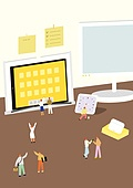 책상, 사무실, 사람, 디지털태블릿 (개인용컴퓨터)