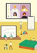 책상, 사무실, 사람, 디지털태블릿 (개인용컴퓨터), 책, 스마트폰
