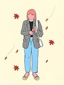 사람, 라이프스타일, 계절, 가을, 단풍잎, 핸드크림