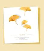 가을, 초대장, 프레임, 잎, 낙엽, 감성, 은행잎