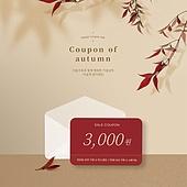 가을, 쿠폰, 상업이벤트 (사건), 세일 (상업이벤트), 남천, 빨강 (색)