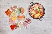 부대찌개, 모듬부대찌개 (부대찌개), 밀키트, 음식, 음식재료
