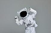 우주비행사 (운송직업), 우주복, 우주복헬멧, 누끼 (누끼), 스튜디오촬영 (실내), 컨셉, 유머 (컨셉)