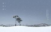 풍경 (컨셉), 겨울, 연하장 (축하카드), 새해 (홀리데이)