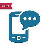Smartphone, Mobile Phone, Telephone Icon. Professional pixel-aligned icon in glyph style.