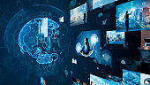 Global communication network concept. Digital transformation.