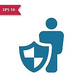 Life Insurance, Health Insurance Icon. Professional pixel-aligned icon in glyph style.