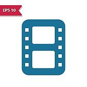 Film Reel, Movie, Film Icon. Professional pixel-aligned icon in glyph style.
