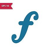 F Note, Music Note, Musical Note Icon. Professional pixel-aligned icon in glyph style.