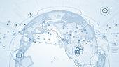 Global communication network concept. Worldwide business.