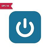 On Off Button, Power Button Icon. Professional pixel-aligned icon in glyph style.