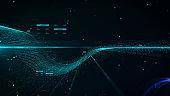 Futuristic Green Science Big Data Transfer Traffic Digital Technology Simulation