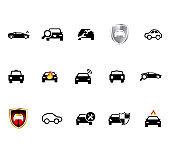 Icon car. Car sign. vector illustration