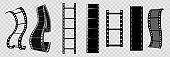 Cinema vector template. Movie reel frame. Film stip.