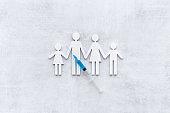 Inject the vaccine for family. Coronavirus vaccine in syringe
