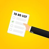 To do list banner. Month planning, time management. Organization. Vector on isolated background. EPS 10