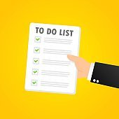 To do list banner. Month planning, time management. Vector on isolated background. EPS 10