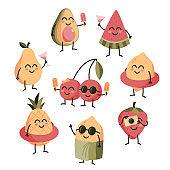 Cute summer fruit sticker