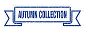 autumn collection ribbon. autumn collection grunge band sign. autumn collection banner