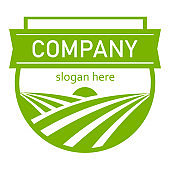 Agriculture Logo Template Design Vector, Emblem, Design Concept, Creative Symbol. Farm fresh products unique sign or icon art.