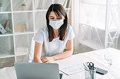 office quarantine remote job employee face mask