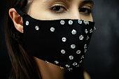 pandemic fashion diy accessory woman face mask