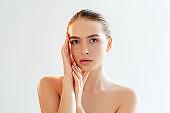 face contouring plastic surgery woman nude makeup