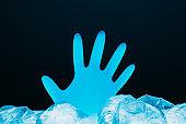 marine pollution save nature glove polyethylene