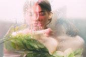 creative portrait spa therapy woman silhouette
