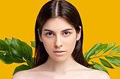 organic beauty herbal cosmetology woman pure face