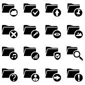 Simple Set of Document flat Icon. Editable Stroke stock illustration