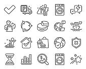 Business icons set. Included icon as Honeymoon cruise, Currency audit, Pie chart signs. Vector