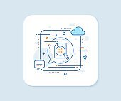 Diagram chart line icon. Analytics graph sign. Vector