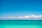 Beautiful marine view on caribbean sea